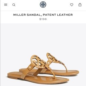 Tory Burch Miller Sandal, Paten Leather
